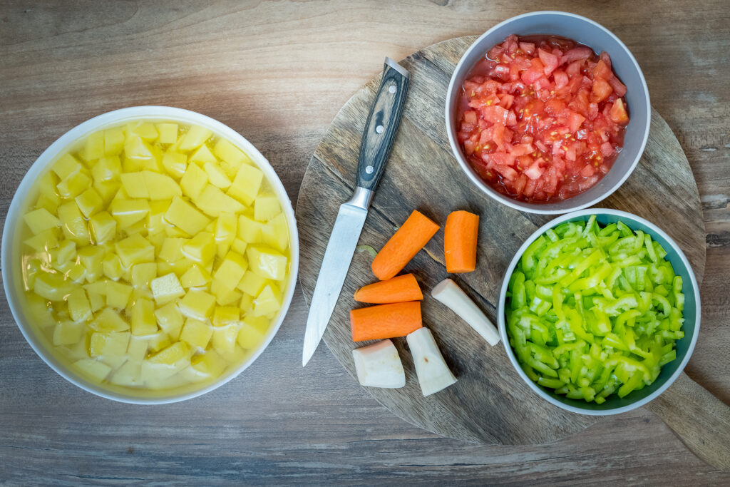 My Hungarian goulash uses vegetables too