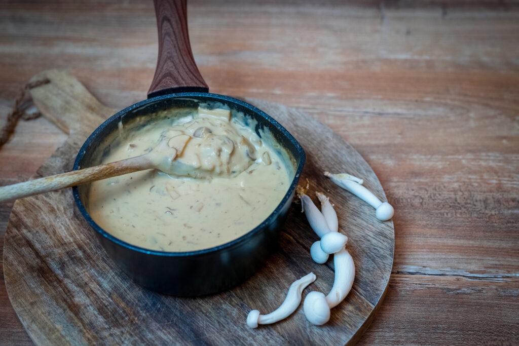 Creamy mushroom sauce for everything.