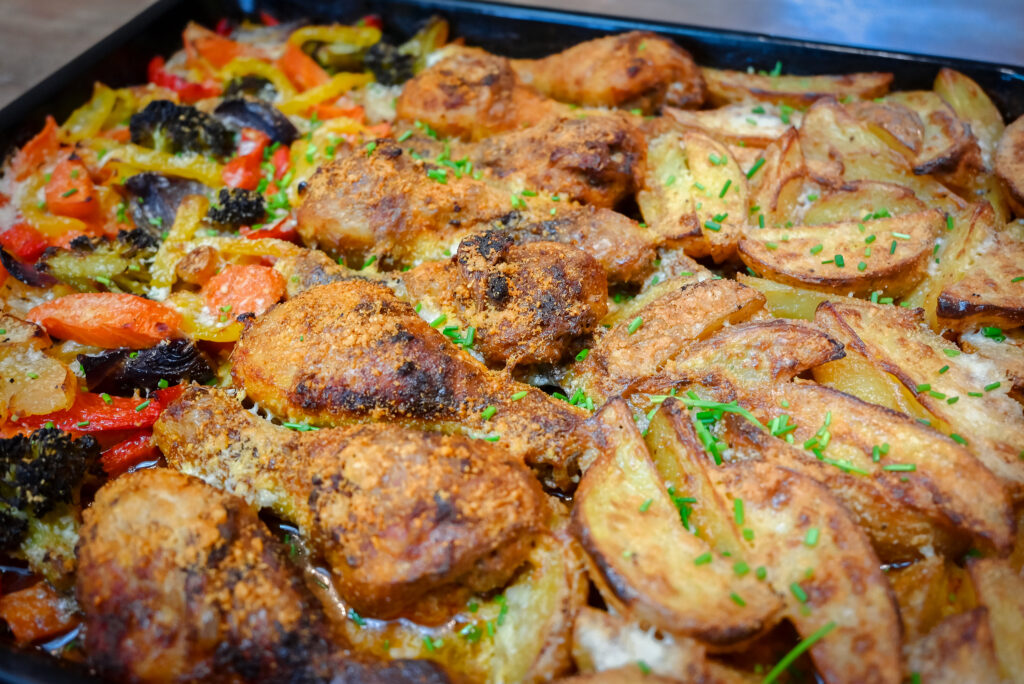We are done, our sheet pan chicken drumsticks are ready.