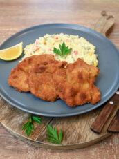Pork Schnitzel With Traditional Potato And Mayonnaise Salad