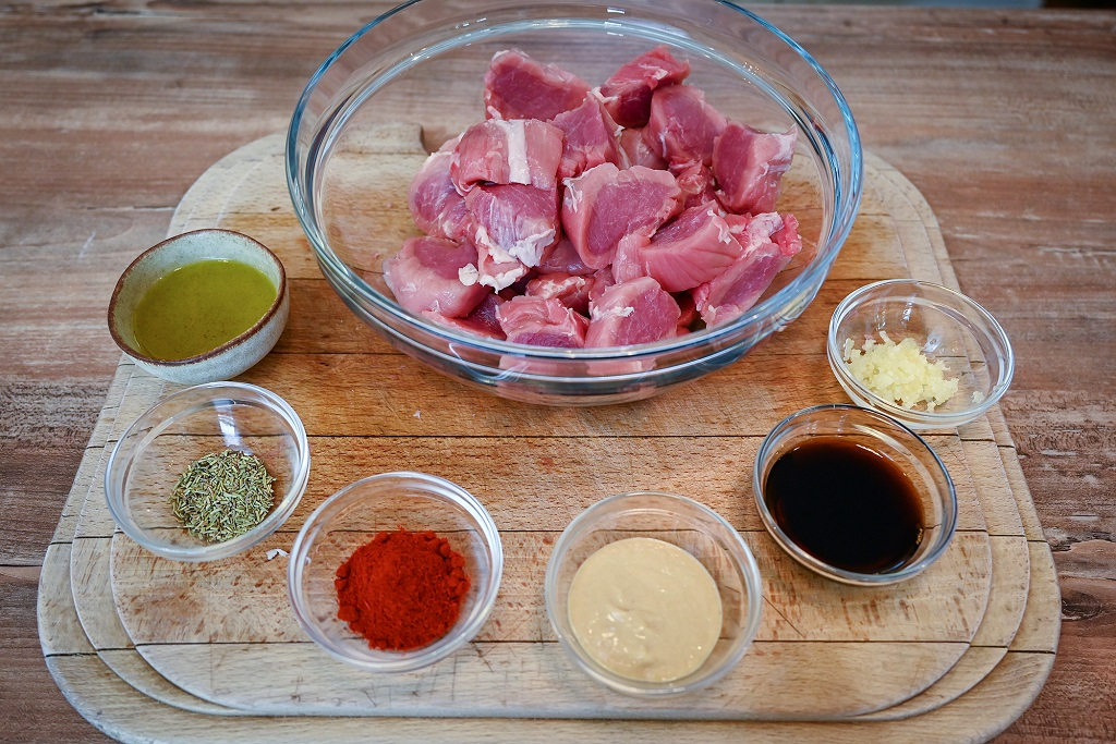 The ingredients for our marinade.