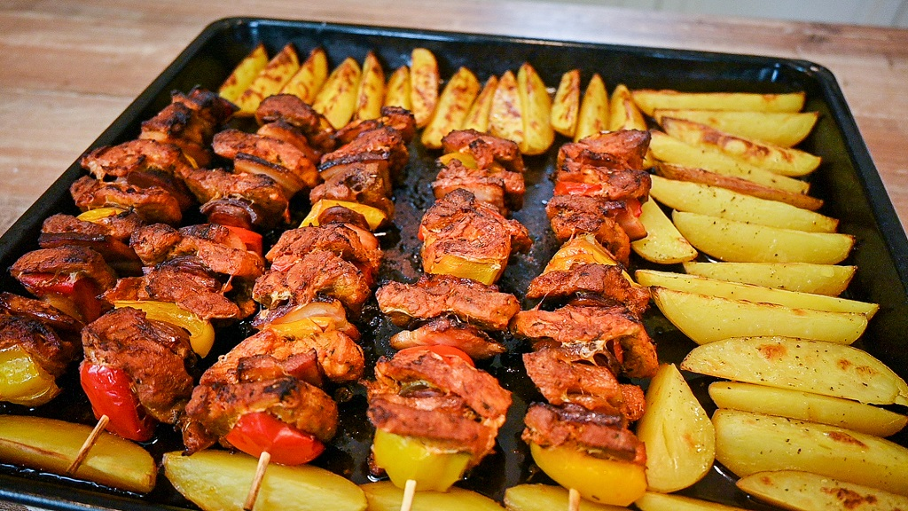 The skewers look good, its time to serve.