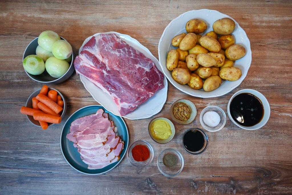 Ingredients we need to make this pork neck recipe.