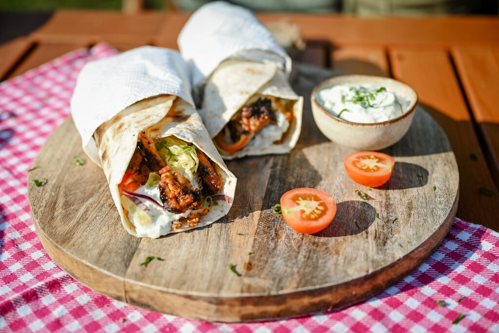 We are done, our chicken gyros is ready to be served.