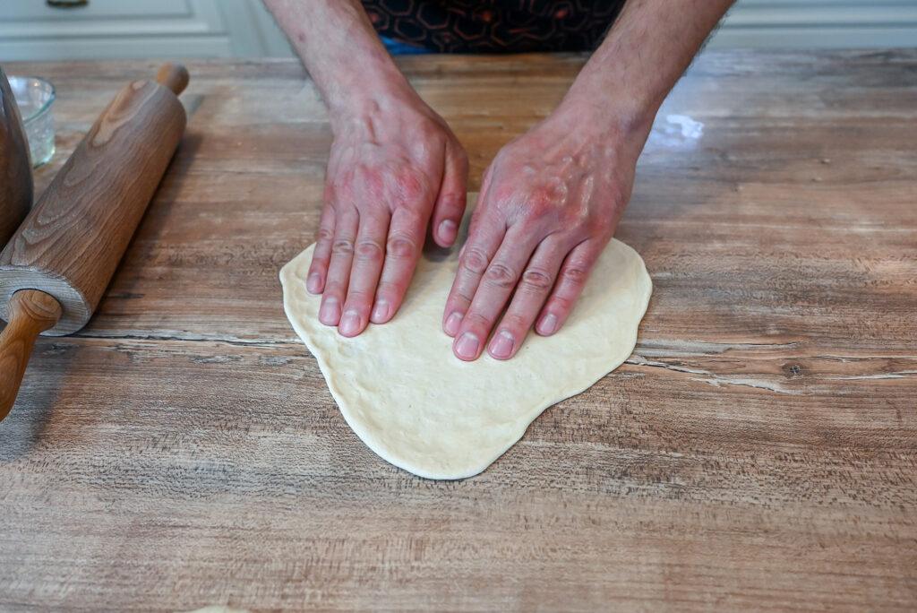 Shape the dough into a round shape.